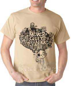 Never Quit Anime Tshirt
